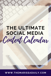 Get the ultimate social media content calendar for free.